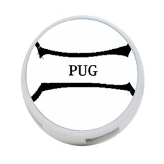 Pug Dog Bone 4-Port USB Hub (Two Sides)