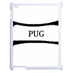 Pug Dog Bone Apple iPad 2 Case (White)