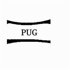 Pug Dog Bone Small Garden Flag (Two Sides)