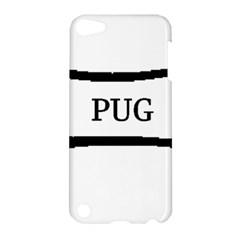 Pug Dog Bone Apple iPod Touch 5 Hardshell Case