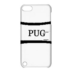 Pug Dog Bone Apple iPod Touch 5 Hardshell Case with Stand