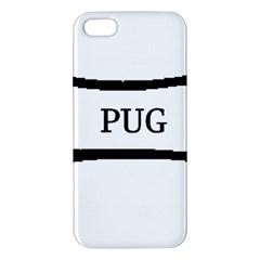 Pug Dog Bone iPhone 5S/ SE Premium Hardshell Case