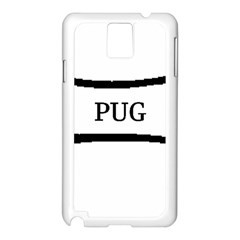 Pug Dog Bone Samsung Galaxy Note 3 N9005 Case (White)