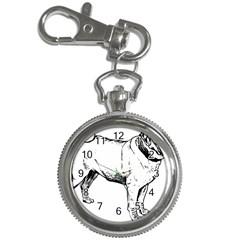 Pug Drawing Key Chain Watches