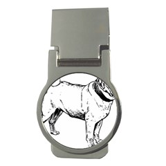 Pug Drawing Money Clips (Round)