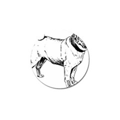 Pug Drawing Golf Ball Marker (10 pack)
