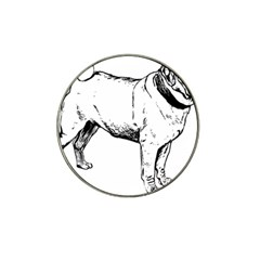 Pug Drawing Hat Clip Ball Marker (4 pack)