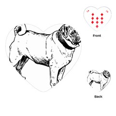 Pug Drawing Playing Cards (Heart)