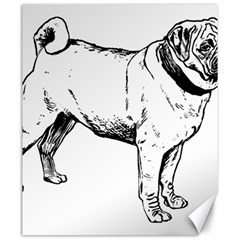Pug Drawing Canvas 20  x 24