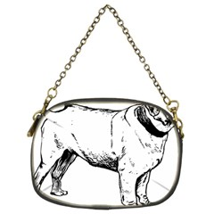 Pug Drawing Chain Purses (Two Sides)