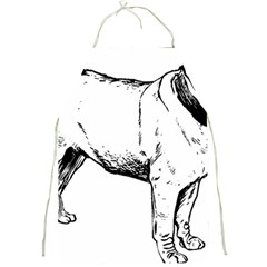 Pug Drawing Full Print Aprons