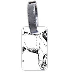 Pug Drawing Luggage Tags (Two Sides)