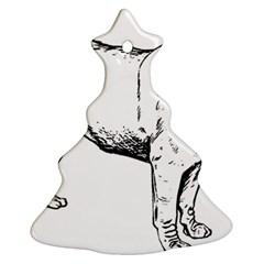 Pug Drawing Ornament (Christmas Tree)