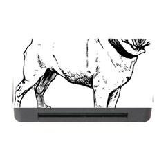 Pug Drawing Memory Card Reader with CF