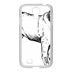 Pug Drawing Samsung GALAXY S4 I9500/ I9505 Case (White)