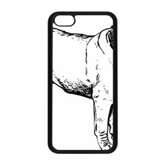 Pug Drawing Apple iPhone 5C Seamless Case (Black)