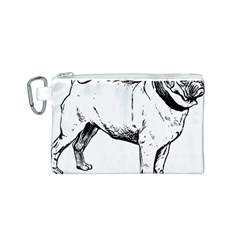 Pug Drawing Canvas Cosmetic Bag (S)