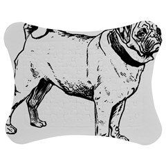 Pug Drawing Jigsaw Puzzle Photo Stand (bow)