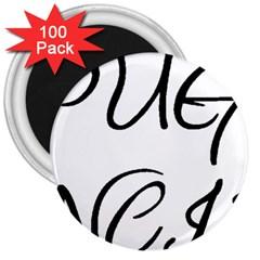 Pug Fancier 3  Magnets (100 pack)