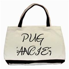 Pug Fancier Basic Tote Bag (Two Sides)