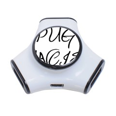 Pug Fancier 3-Port USB Hub