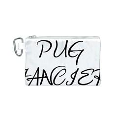 Pug Fancier Canvas Cosmetic Bag (S)