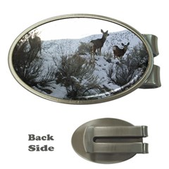 White Tail Deer 1 Money Clips (Oval)