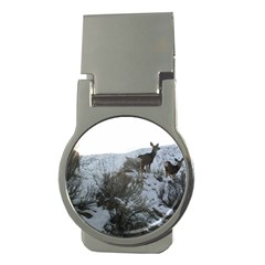 White Tail Deer 1 Money Clips (Round)