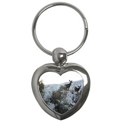 White Tail Deer 1 Key Chains (Heart)