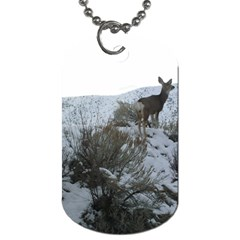 White Tail Deer 1 Dog Tag (One Side)