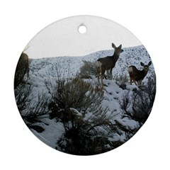 White Tail Deer 1 Round Ornament (Two Sides)
