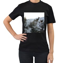 White Tail Deer 1 Women s T-Shirt (Black)