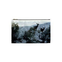 White Tail Deer 1 Cosmetic Bag (Small)