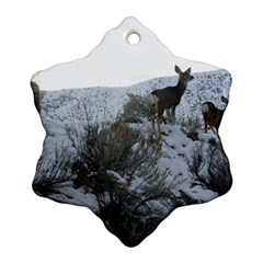 White Tail Deer 1 Snowflake Ornament (Two Sides)