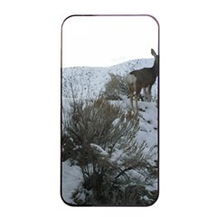 White Tail Deer 1 Apple iPhone 4/4s Seamless Case (Black)