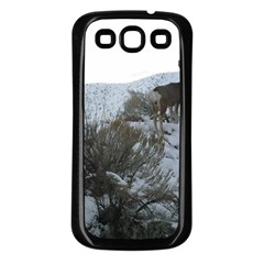 White Tail Deer 1 Samsung Galaxy S3 Back Case (Black)