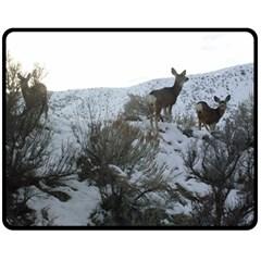 White Tail Deer 1 Double Sided Fleece Blanket (Medium)