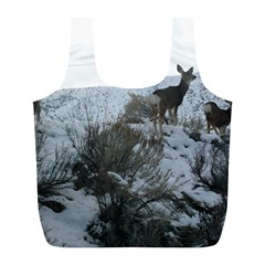 White Tail Deer 1 Full Print Recycle Bags (L)