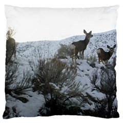 White Tail Deer 1 Standard Flano Cushion Case (One Side)