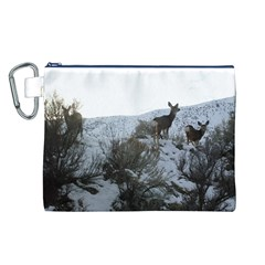 White Tail Deer 1 Canvas Cosmetic Bag (L)
