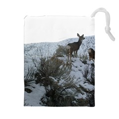White Tail Deer 1 Drawstring Pouches (Extra Large)