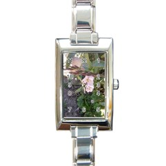 Wildflowers On The Boise River Rectangle Italian Charm Watch