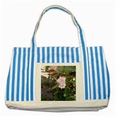 Wildflowers On The Boise River Striped Blue Tote Bag