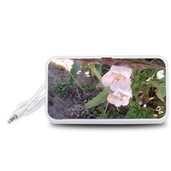 Wildflowers On The Boise River Portable Speaker (White)
