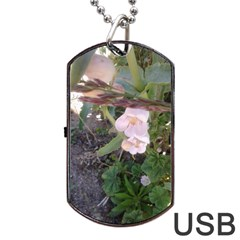 Wildflowers On The Boise River Dog Tag USB Flash (Two Sides)