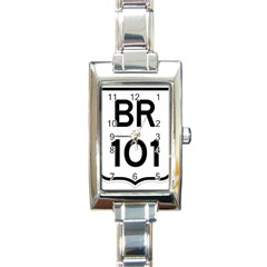 Brazil BR-101 Transcoastal Highway  Rectangle Italian Charm Watch