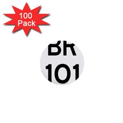 Brazil BR-101 Transcoastal Highway  1  Mini Buttons (100 pack)