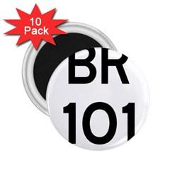 Brazil BR-101 Transcoastal Highway  2.25  Magnets (10 pack)