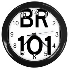 Brazil BR-101 Transcoastal Highway  Wall Clocks (Black)