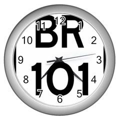 Brazil BR-101 Transcoastal Highway  Wall Clocks (Silver)